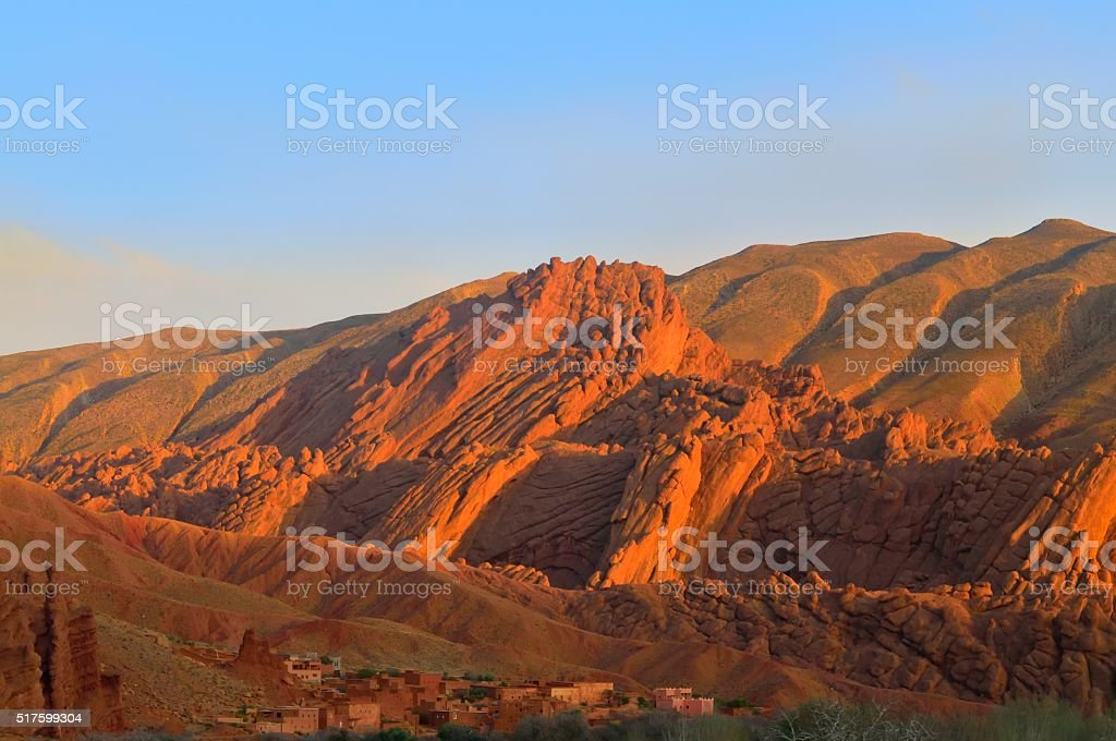Moroccan Geologic Folding stock photo