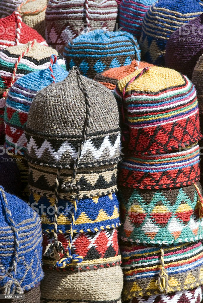 Moroccan Hats royalty-free stock photo