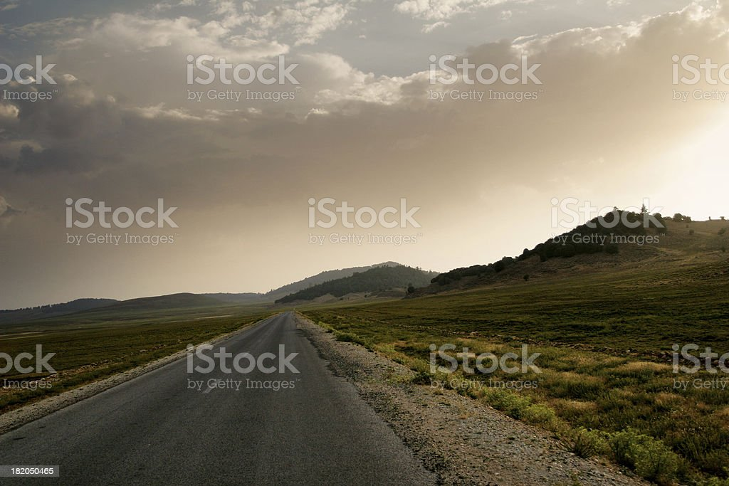 Moroccan Highway royalty-free stock photo