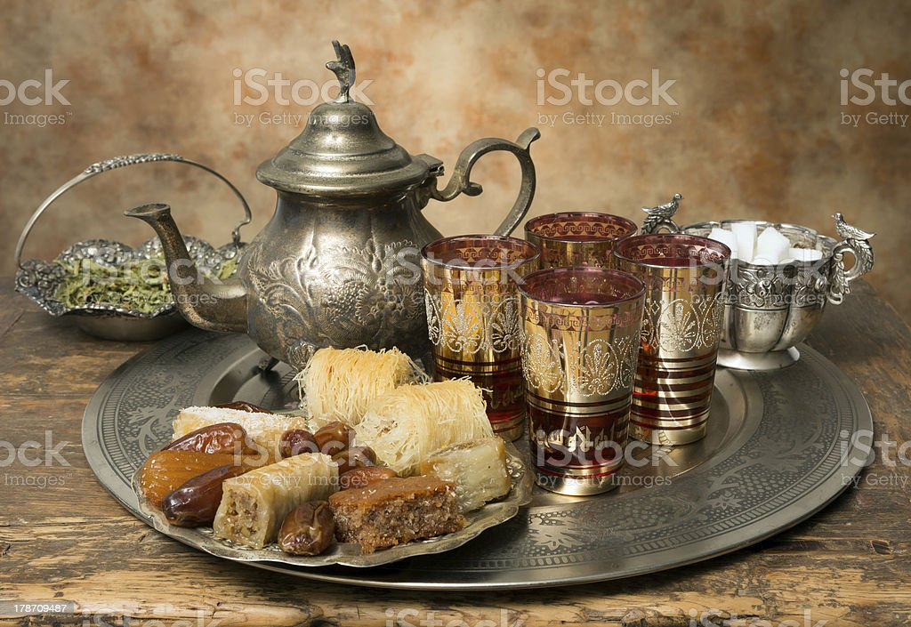Moroccan hospitality stock photo
