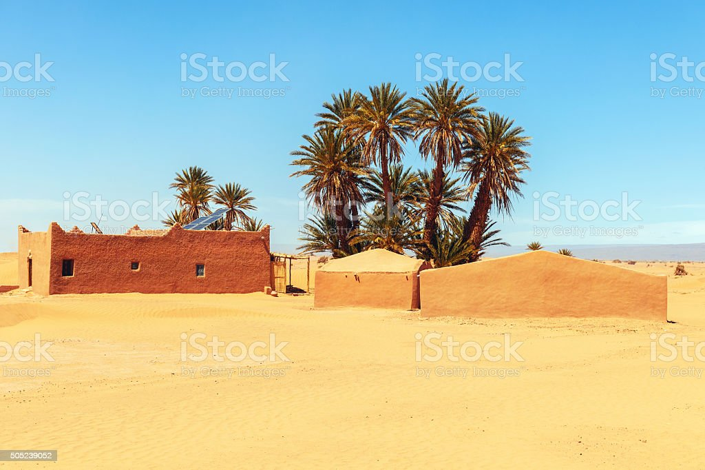 Moroccan Houses in Souss-Massa-Draa,Morocco,North Africa stock photo
