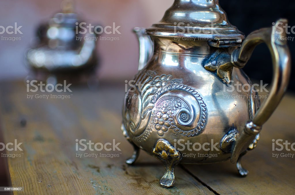 Moroccan kettle stock photo