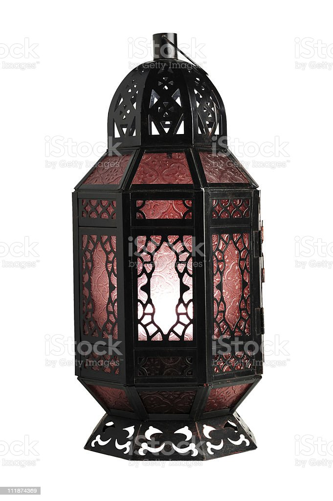 Moroccan Lamp on White royalty-free stock photo