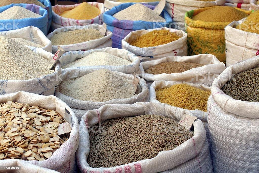 Moroccan market stock photo