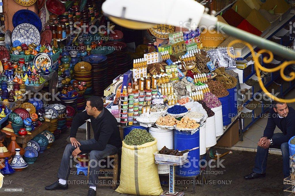 Moroccan merchants royalty-free stock photo