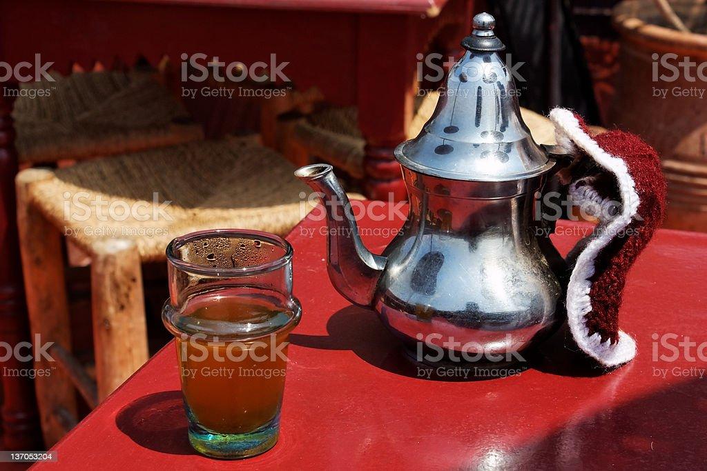 Moroccan mint tea. royalty-free stock photo