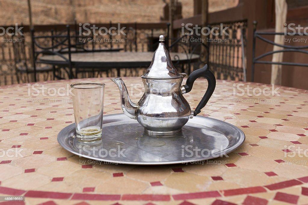 Moroccan mint tea royalty-free stock photo