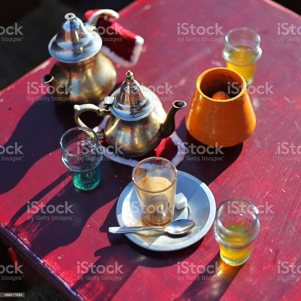 Moroccan Mint Tea set royalty-free stock photo