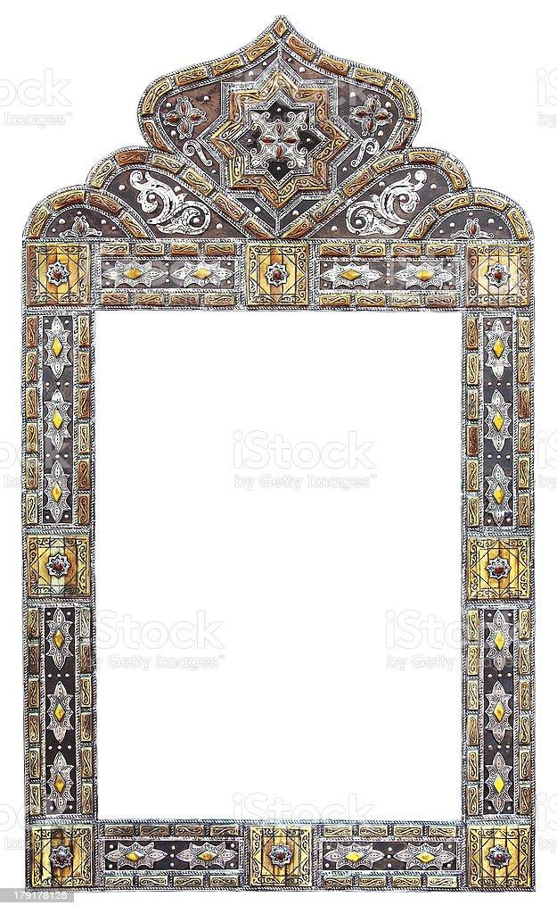 Moroccan mirror frame royalty-free stock photo