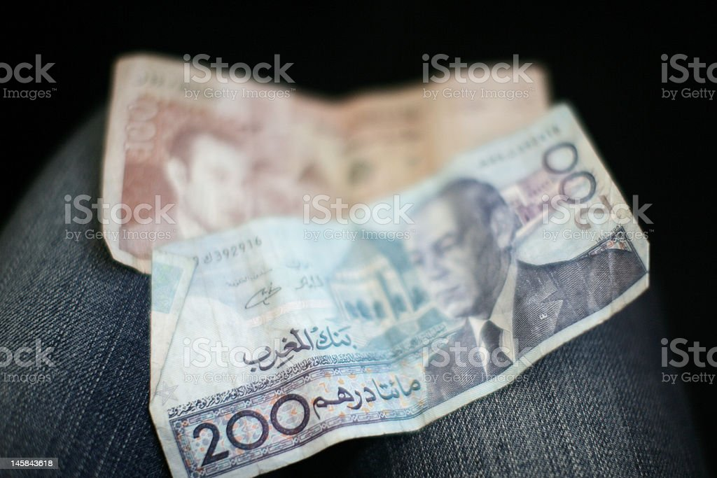 Moroccan Money royalty-free stock photo