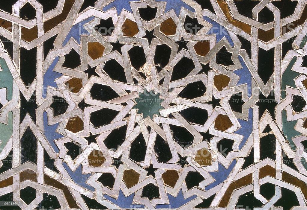 Moroccan mosaic royalty-free stock photo