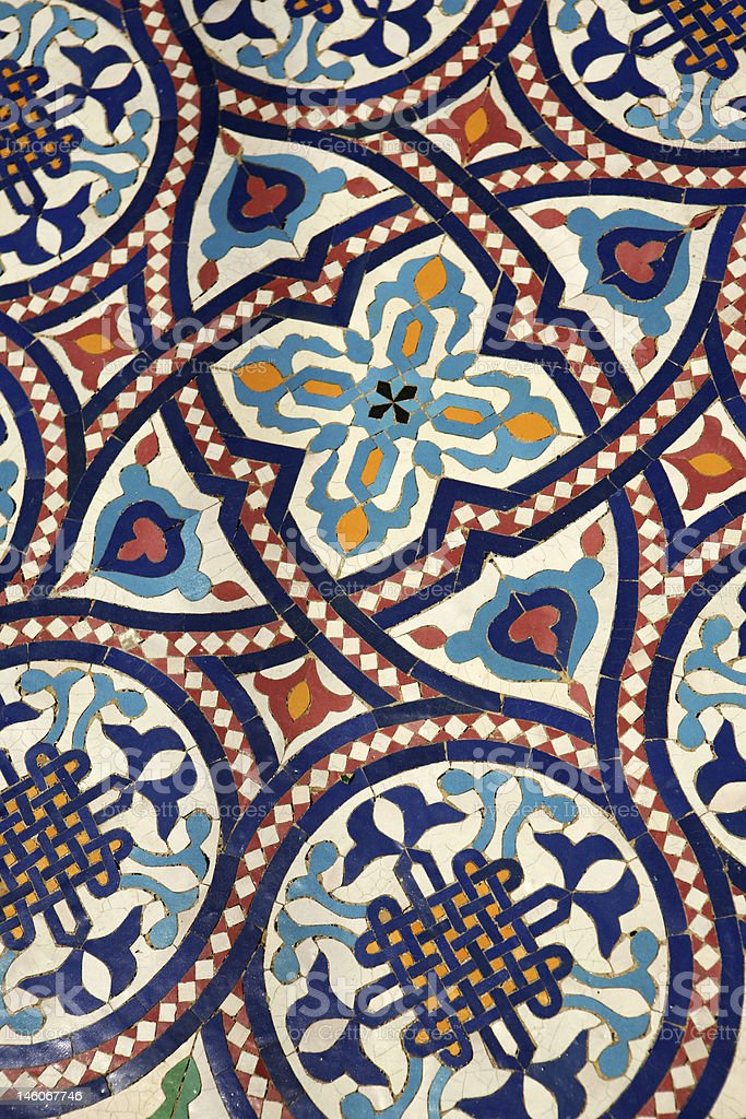 Moroccan mosaic tilework royalty-free stock photo