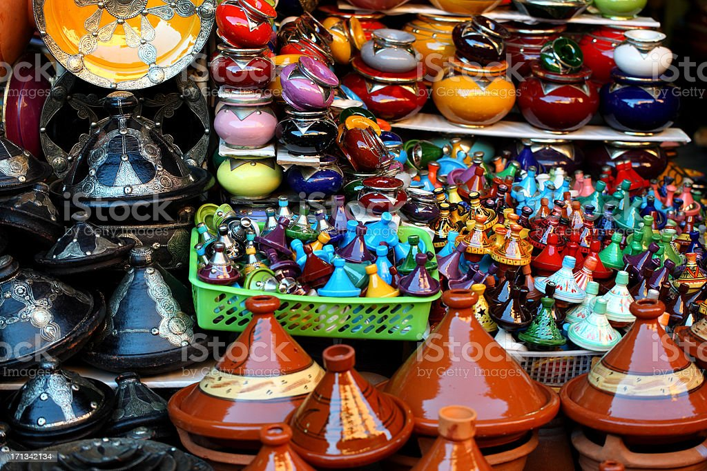 Moroccan Pots royalty-free stock photo