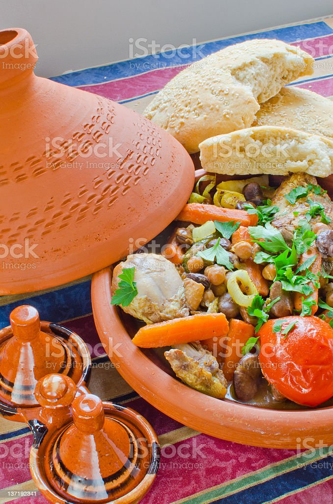 "Moroccan ""seven vegetables"" tagine royalty-free stock photo"