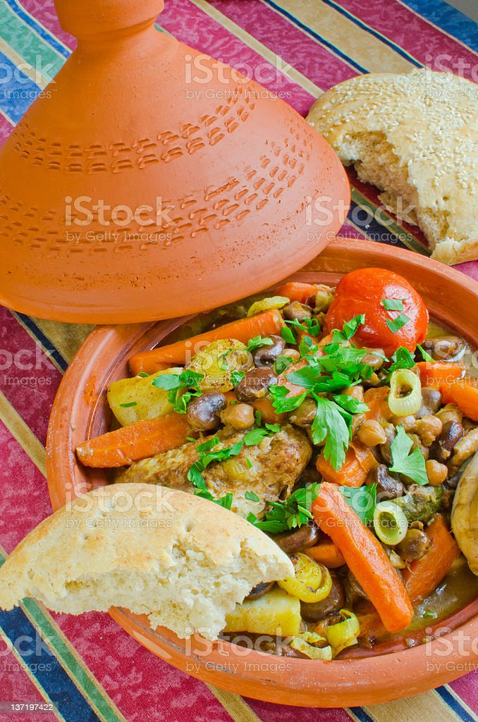 """Moroccan """"seven vegetables"""" tagine royalty-free stock photo"""
