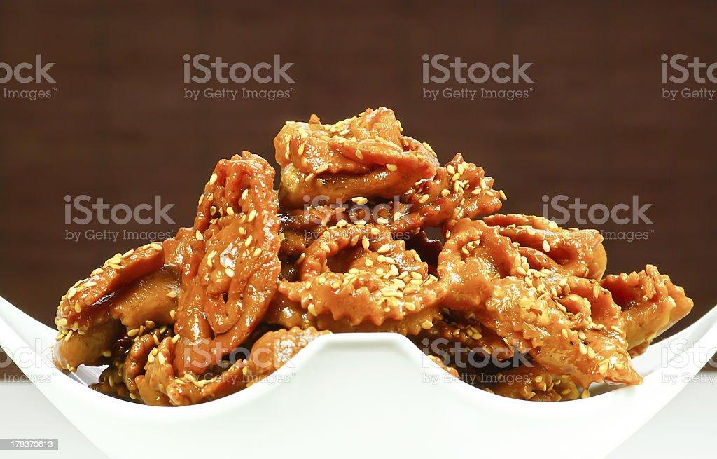 Moroccan Ramadan cookies royalty-free stock photo