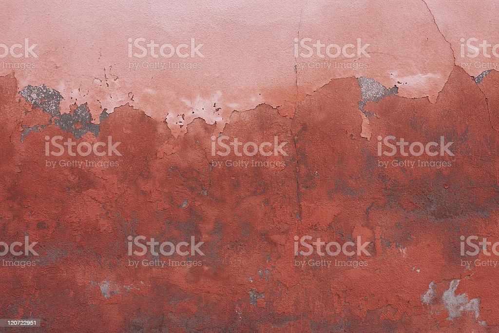 Moroccan Red Wall stock photo