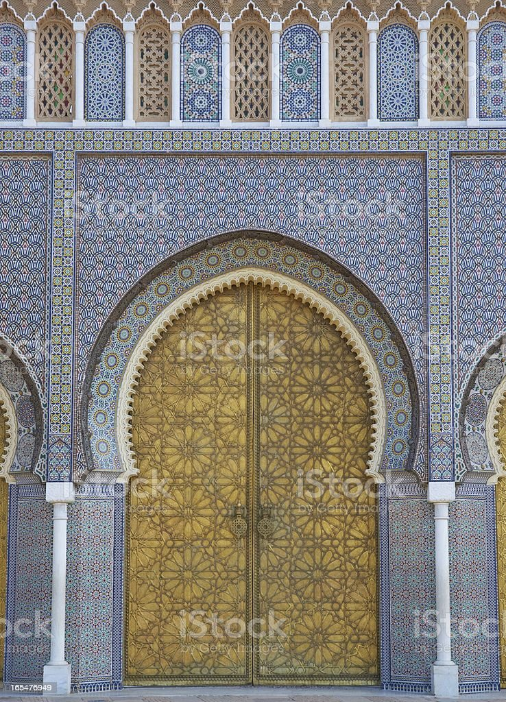 Moroccan Royal Palace royalty-free stock photo