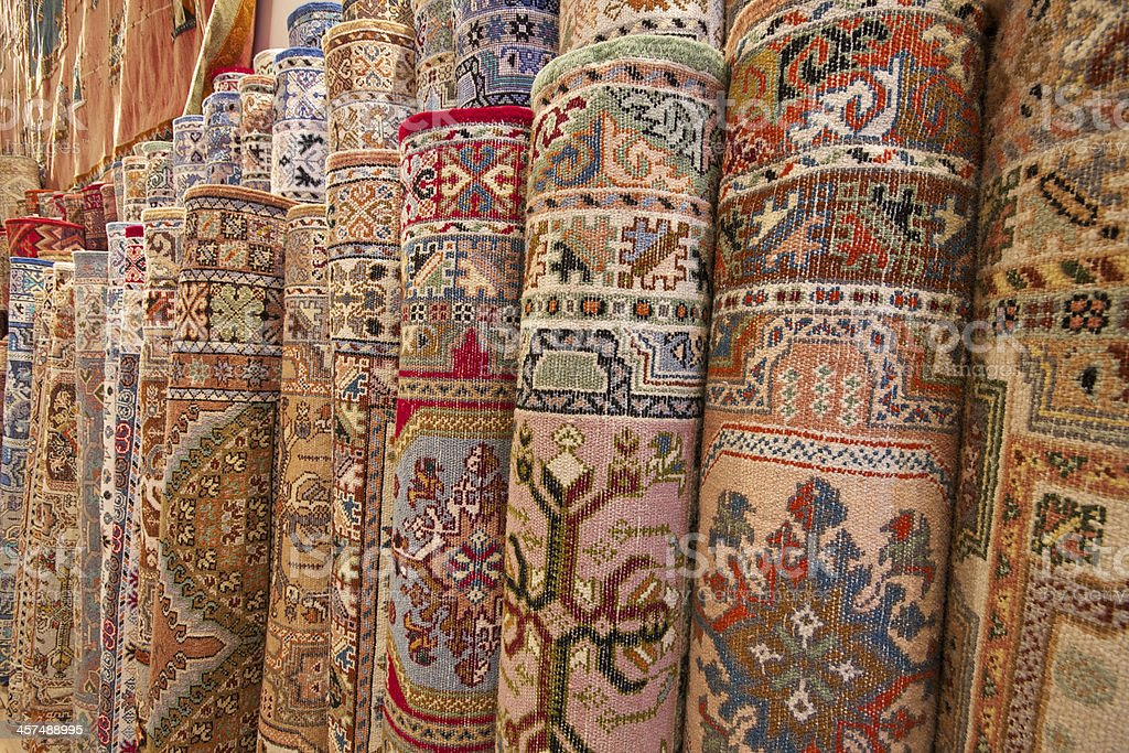Moroccan rugs stock photo
