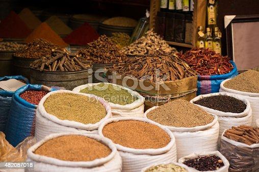moroccan spice market in the medina stock photo 482087018 | istock