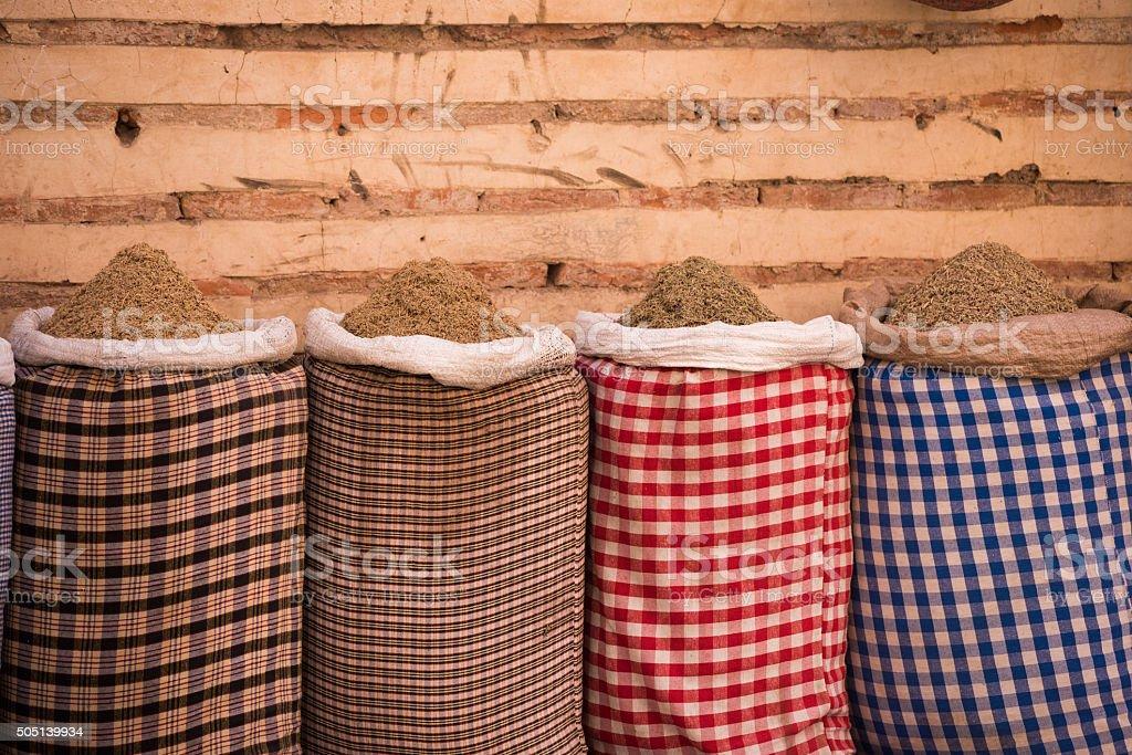 moroccan spice market in the medina stock photo 505139934 | istock
