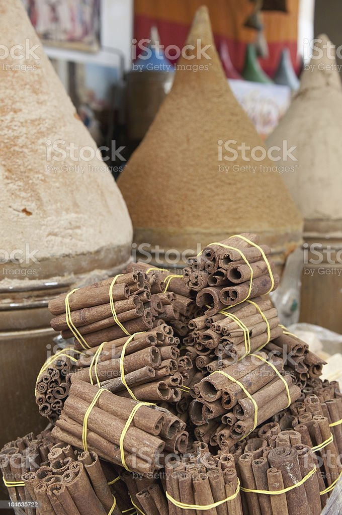 Moroccan spice market royalty-free stock photo