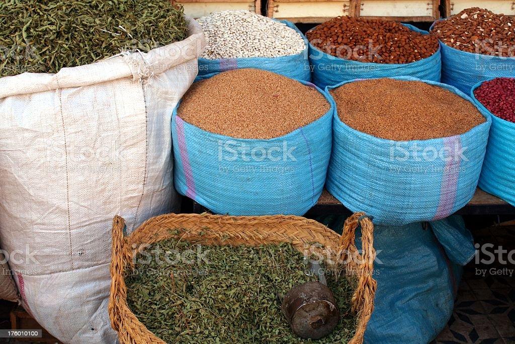 Moroccan street market royalty-free stock photo