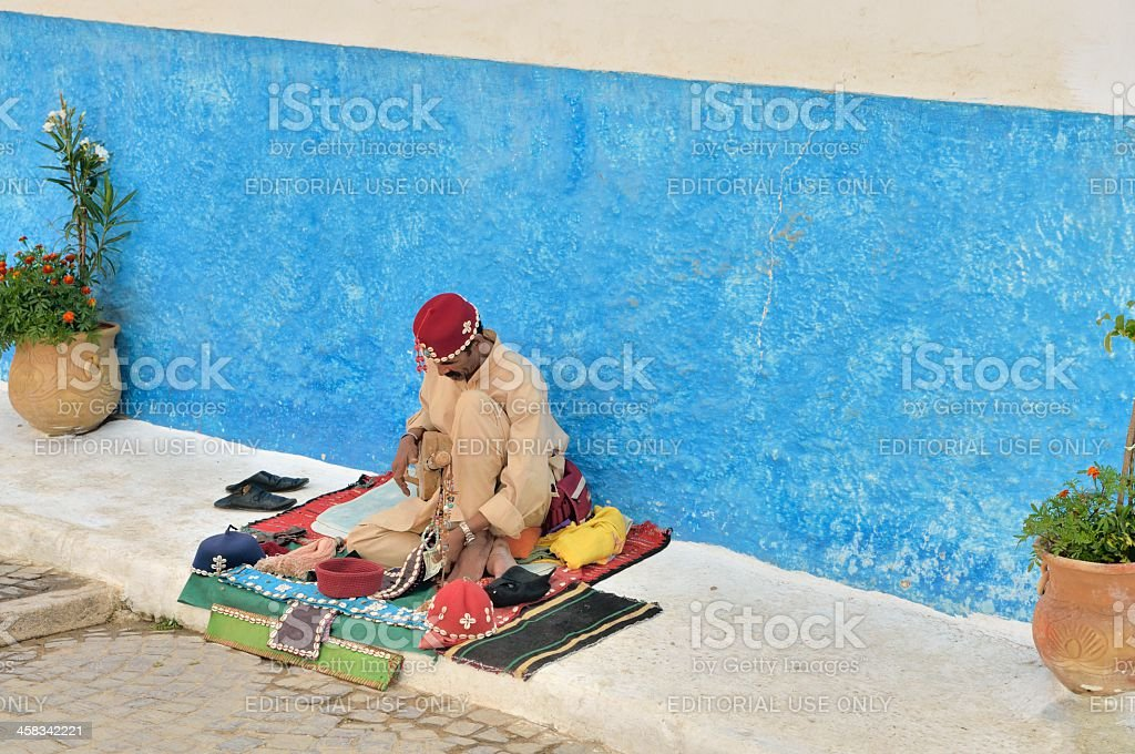 Moroccan Street Musician royalty-free stock photo