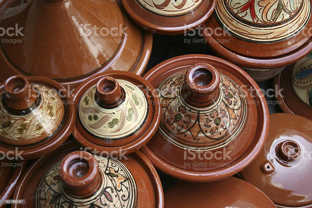 Moroccan Tagine pots royalty-free stock photo