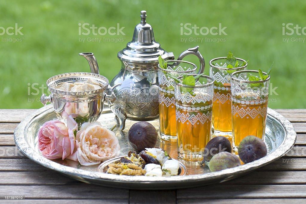 Moroccan Tea stock photo