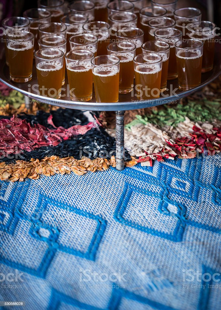 Moroccan tea stock photo