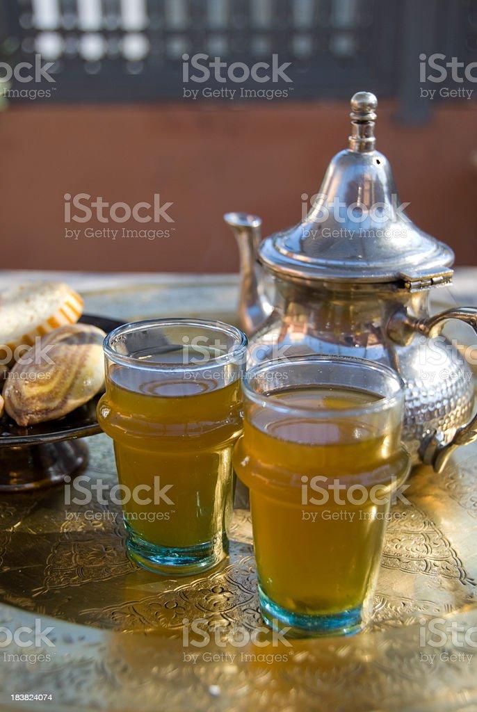 Moroccan tea set royalty-free stock photo