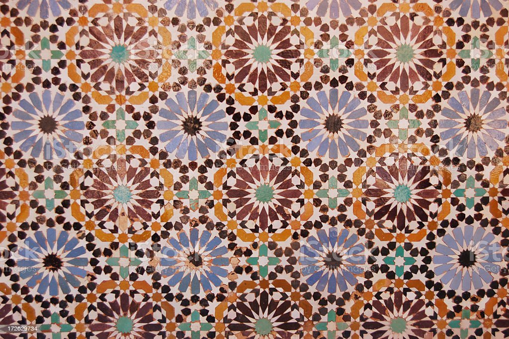 Moroccan Tile Artwork stock photo