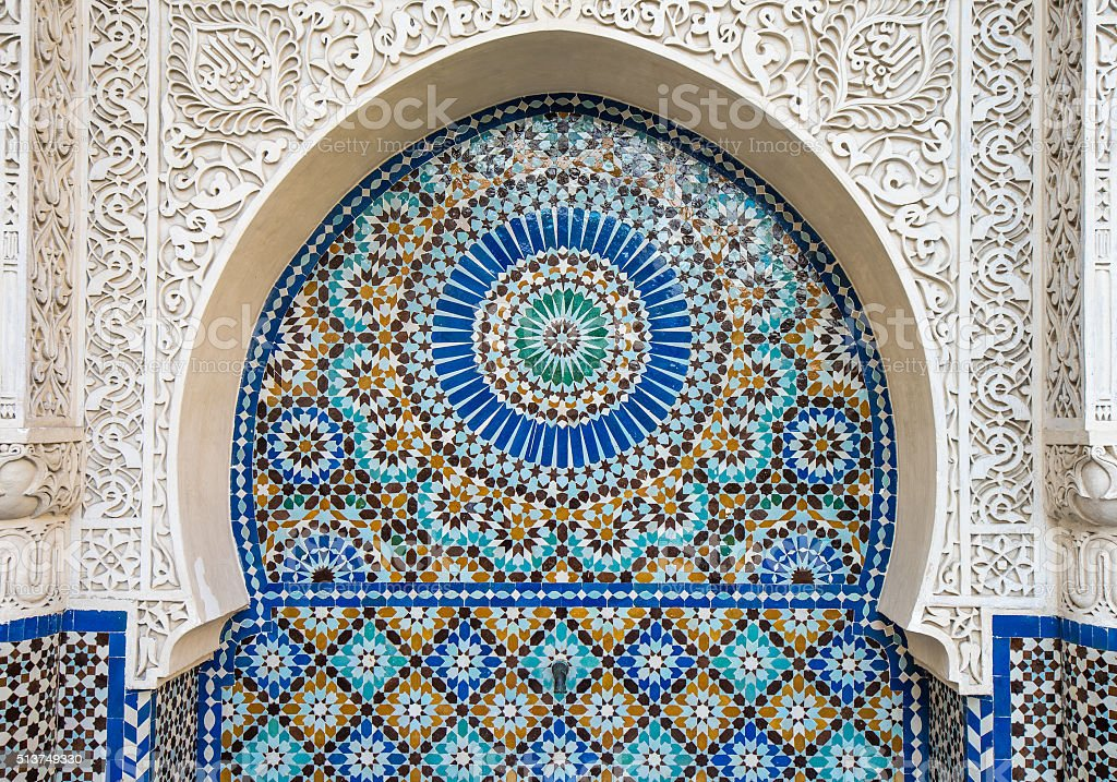 moroccan tile background stock photo