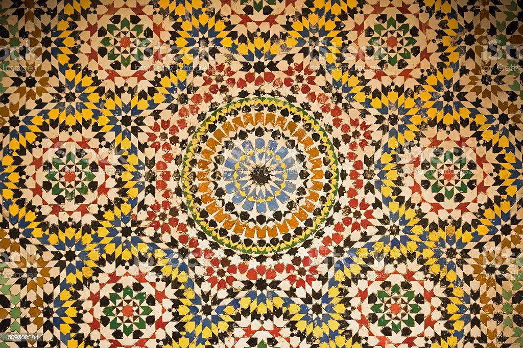 Moroccan tile pattern stock photo
