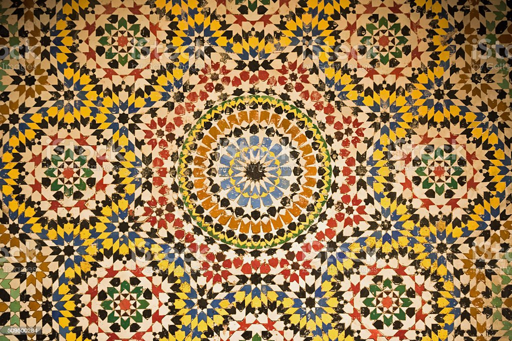 Moroccan tile pattern stock photo