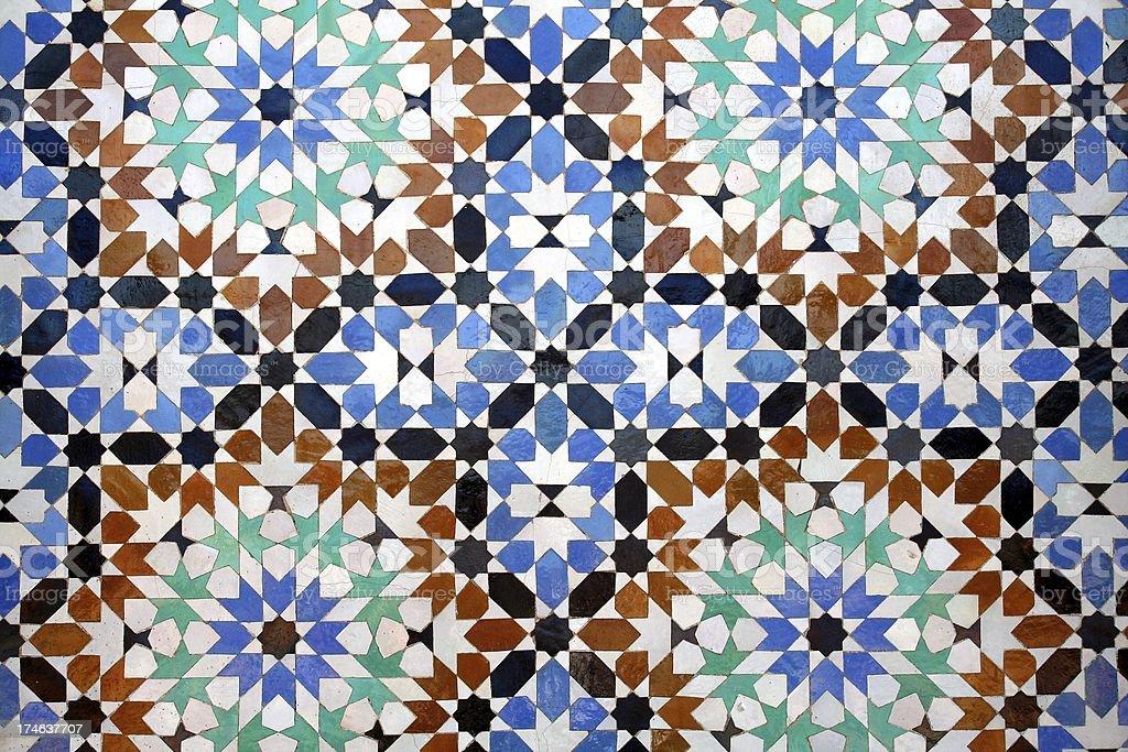 Moroccan tiles royalty-free stock photo