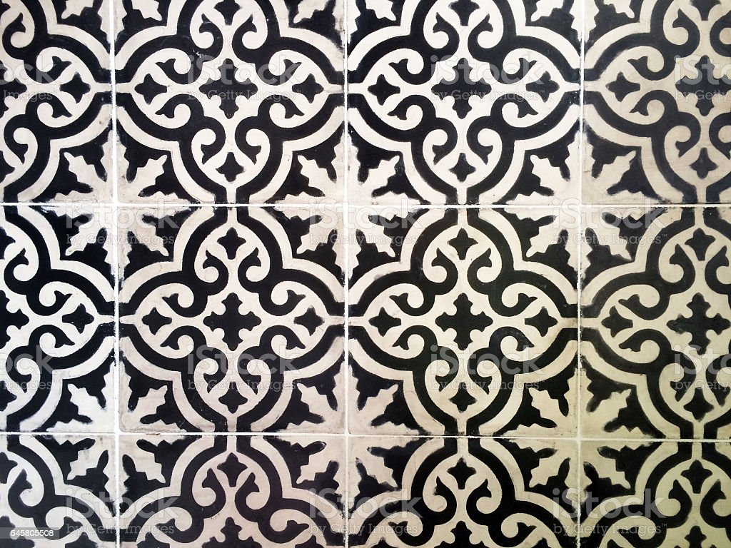 Moroccan tiles stock photo