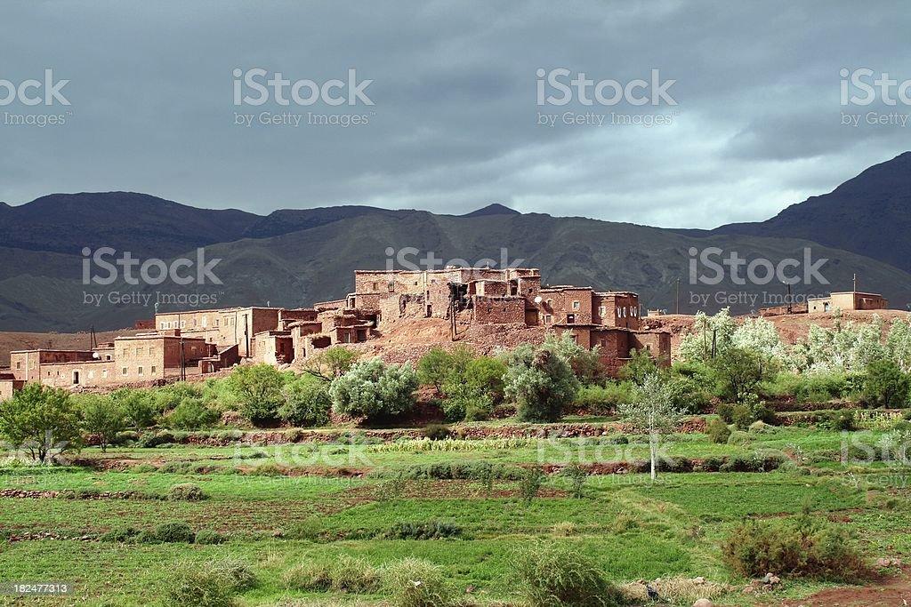 Moroccan village royalty-free stock photo