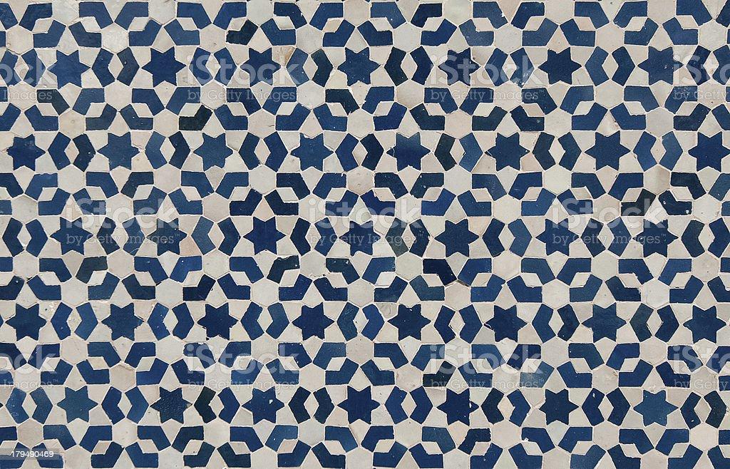 moroccan vintage tile background stock photo