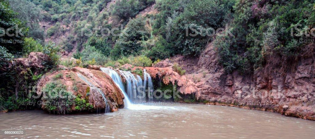 Moroccan waterfall stock photo