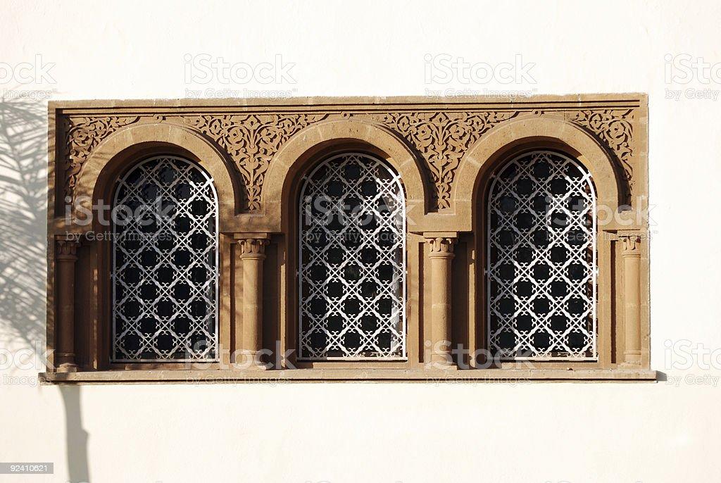 Moroccan windows stock photo