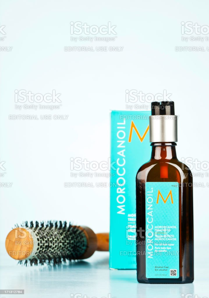 Moroccanoil Hair Treatment royalty-free stock photo