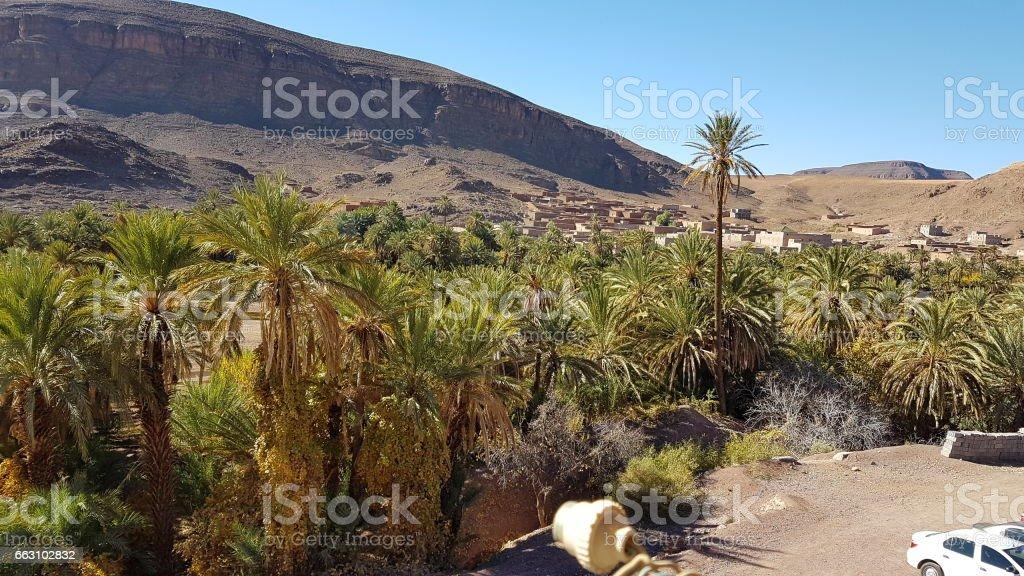 Morocco - Abandonned Village Fint stock photo