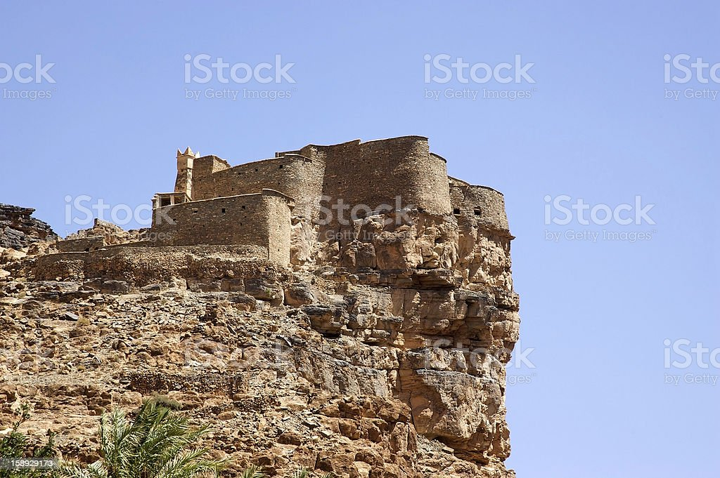 Morocco Amtoudi fortified granary stock photo