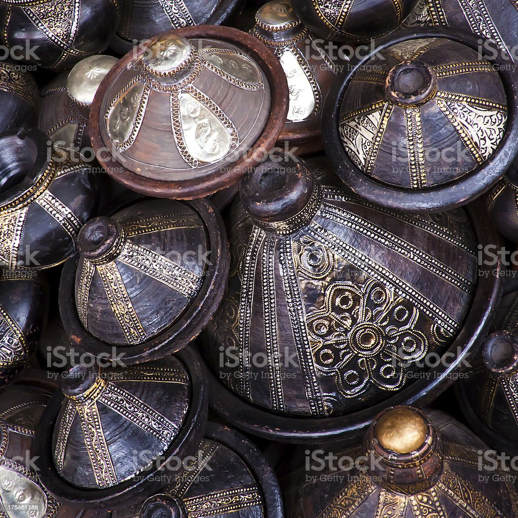 Morocco crafts royalty-free stock photo