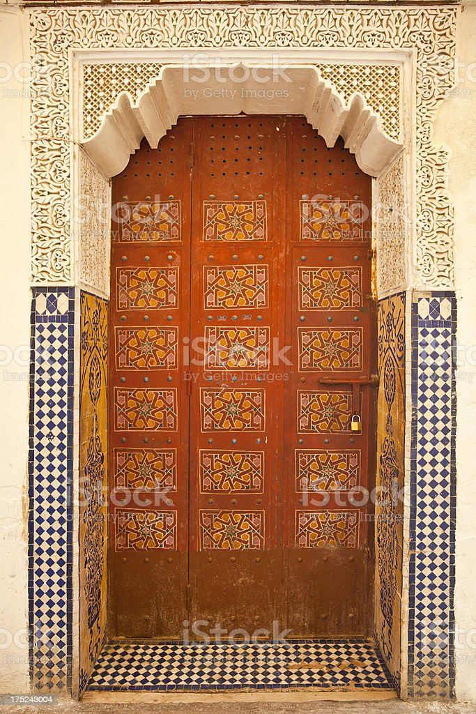 Morocco door stock photo