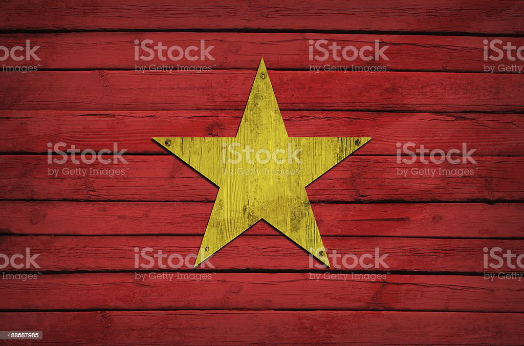 Morocco flag painted on wooden boards royalty-free stock photo