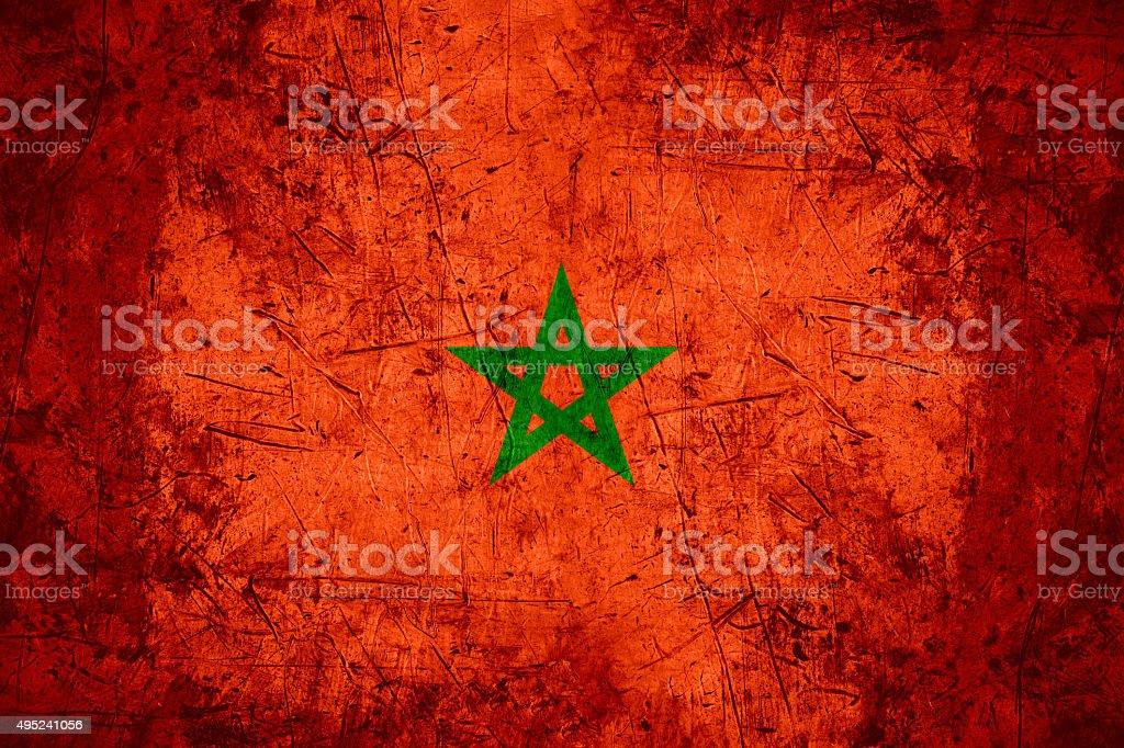 Morocco flag stock photo