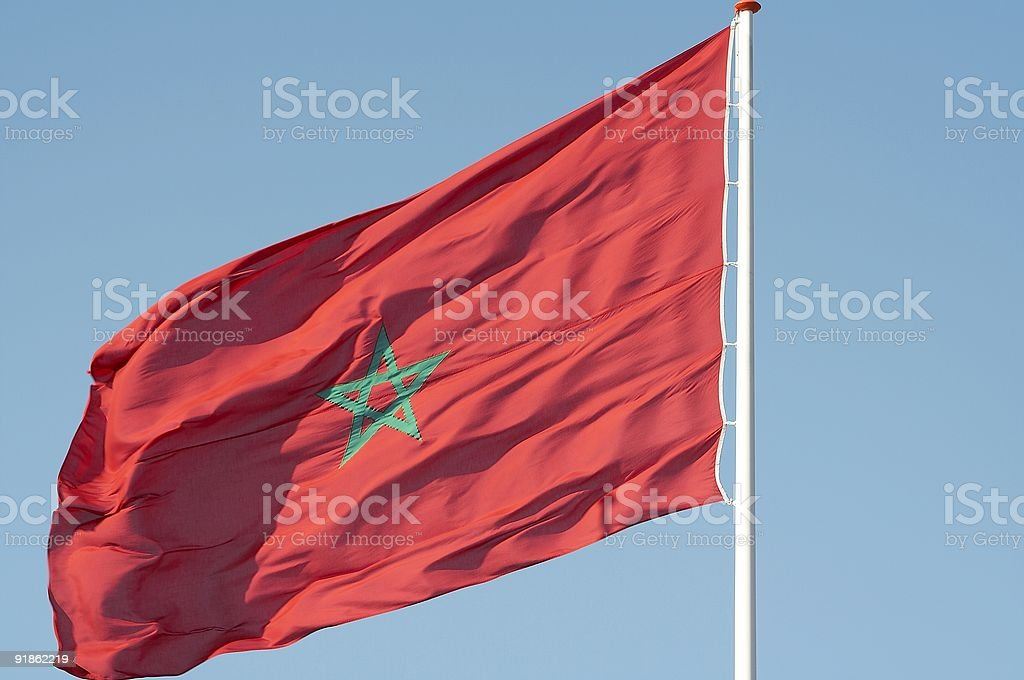 Morocco flag royalty-free stock photo